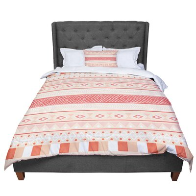 Skye Zambrana Mojave Comforter Size: Twin, Color: Orange/Red