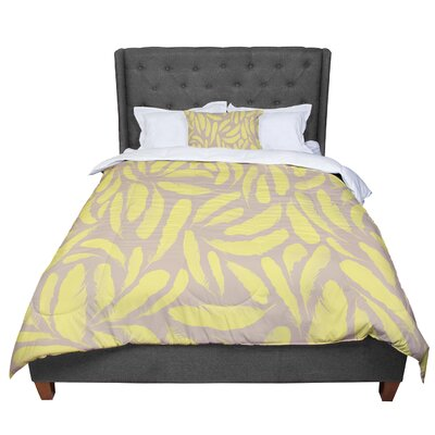 Skye Zambrana Feather Comforter Size: King