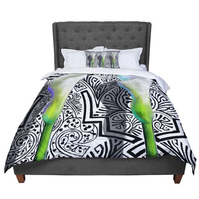 S. Seema Z Three Lily Comforter Size: King