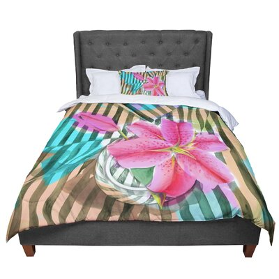 S. Seema Z Lilly N Stripes Comforter Size: Twin