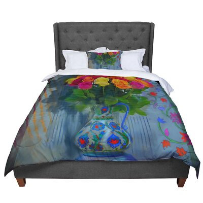 S. Seema Z Spring Bouquet Flowers Comforter Size: King