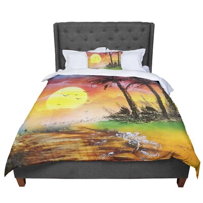 Infinite Spray Art Maui Sunrise Beach Comforter Size: King