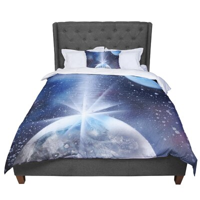 Infinite Spray Art Intergalactic Painting Comforter Size: Twin