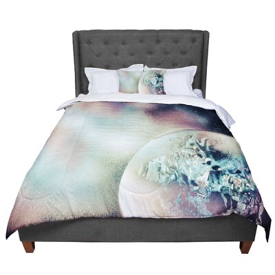 Infinite Spray Art Space Dust Space Planet Comforter Size: Queen