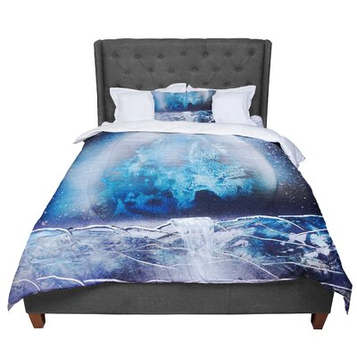 Infinite Spray Art Surreal Falls Planet Comforter Size: Twin