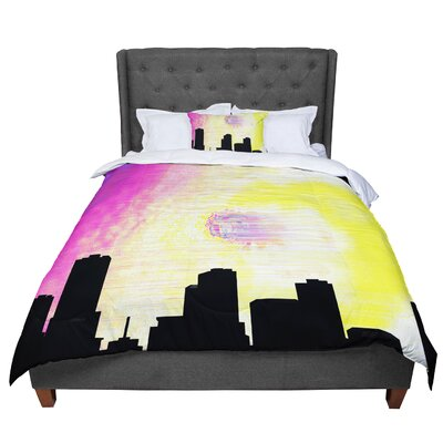 Infinite Spray Art Skylined Comforter Size: Queen