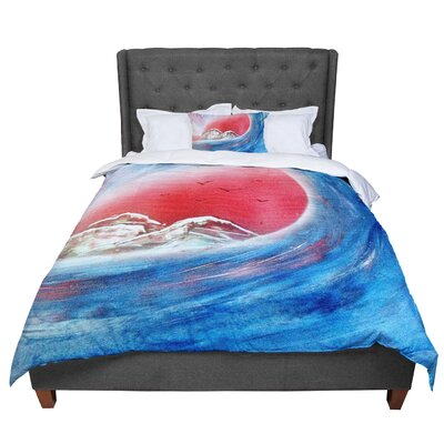 Infinite Spray Art Tubular Comforter Size: King
