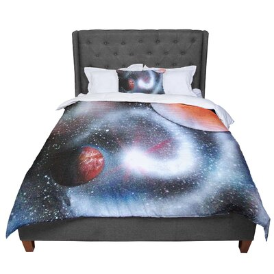 Infinite Spray Art Starburst Galaxy Comforter Size: King