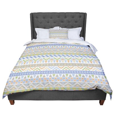 Noonday Design Happy Tribal Pastel Comforter Size: Queen