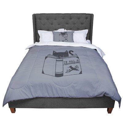Tobe Fonseca to Kill a Mockingbird Cat Comforter Size: Queen