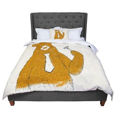 Tobe Fonseca Work Bear Comforter Size: King
