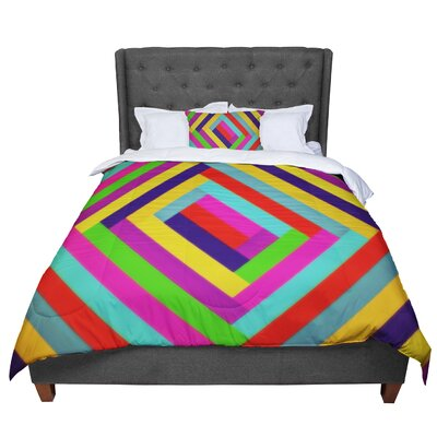 Trebam Nakriv Rainbow Abstract Comforter Size: Queen