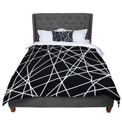 Trebam Paucina Crazy Lines Comforter Size: Queen