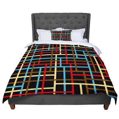 Trebam Veza Comforter Size: Queen, Color: Black