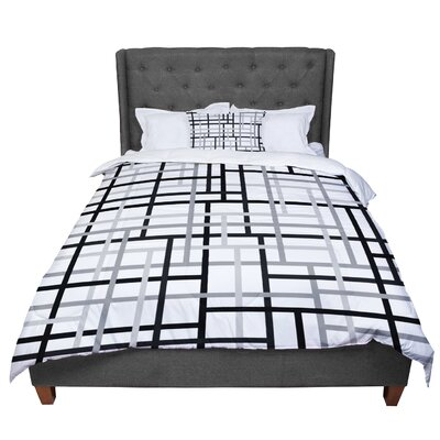 Trebam Veza Comforter Size: King, Color: White