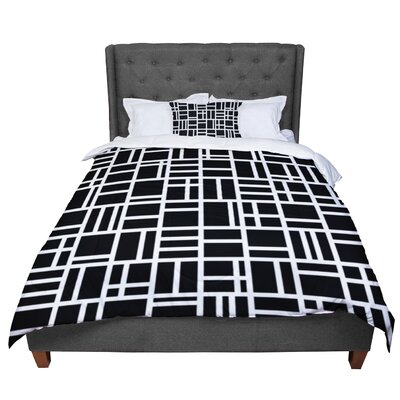 Trebam Kutije Digital Comforter Size: Queen, Color: Black