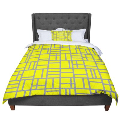Trebam Kutije Digital Comforter Size: Twin, Color: Yellow
