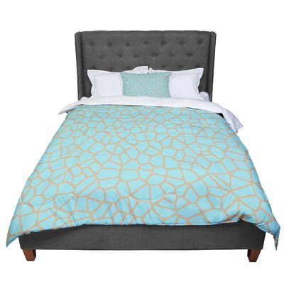 Trebam Staklo Comforter Size: Queen, Color: Aqua Coffee