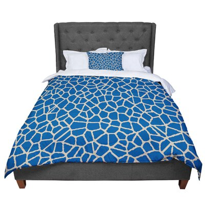 Trebam Staklo Comforter Size: King, Color: Blue Coffee