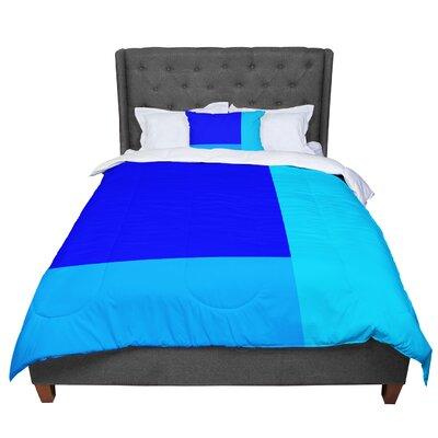 Trebam Bluz Geometric Comforter Size: Queen