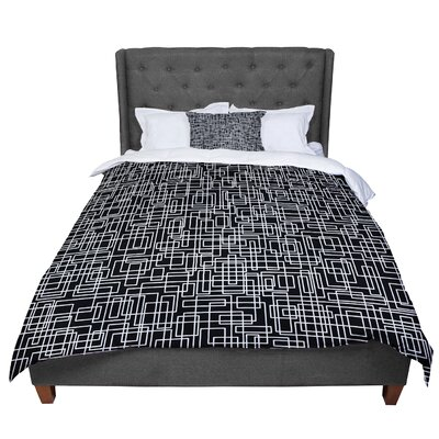 Trebam Komada Comforter Size: King, Color: Black