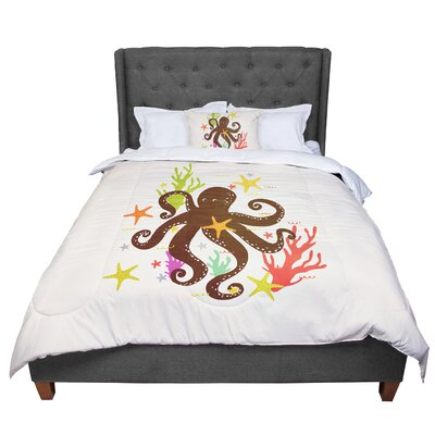Strawberringo Friends Around the Sea Octopus Comforter Size: Queen