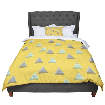 Strawberringo Triangles Geometric Comforter Size: Twin