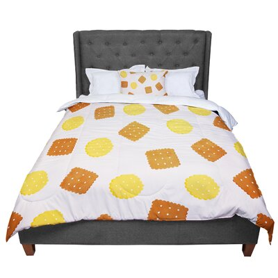 Strawberringo Do You Love Biscuits? Comforter Size: Queen