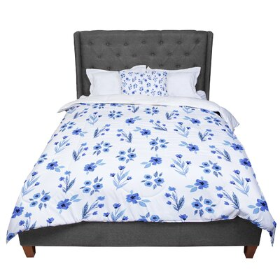Starwberringo Floral Pattern Comforter Size: King