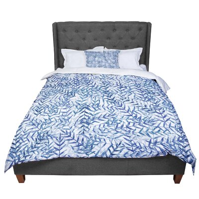 Strawberringo Comforter Size: Queen, Color: Blue/White