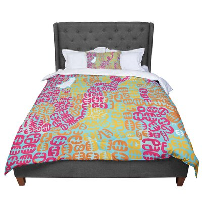 Theresa Giolzetti Oliver Comforter Size: Queen, Color: Magenta