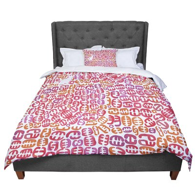 Theresa Giolzetti Oliver Comforter Size: Queen, Color: Orange