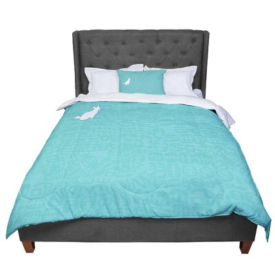 Theresa Giolzetti Oliver Comforter Size: King, Color: Teal