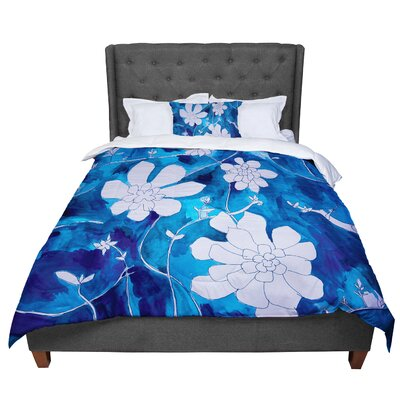 Theresa Giolzetti Succulent Dance 1 Comforter Size: King, Color: Blue