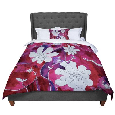 Theresa Giolzetti Succulent Dance 1 Comforter Size: Queen, Color: Red