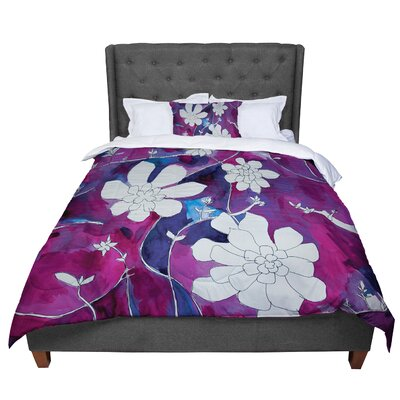 Theresa Giolzetti Succulent Dance 1 Comforter Size: King, Color: Purple