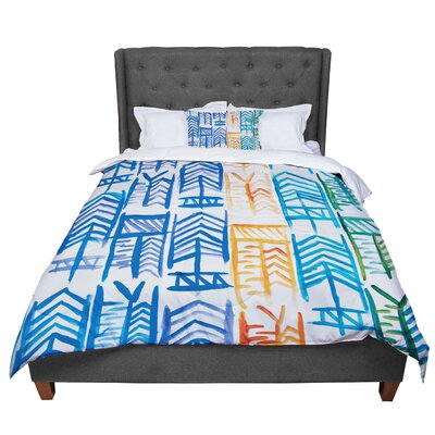 Theresa Giolzetti Quiver II Comforter Size: Queen, Color: Blue/Yellow