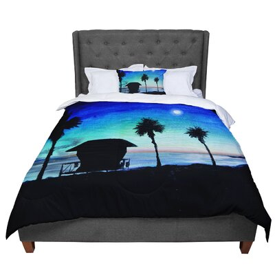 Theresa Giolzetti Carlsbad State Beach Comforter Size: King