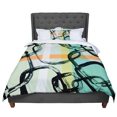 Theresa Giolzetti Sixties Stripe Comforter Size: Queen