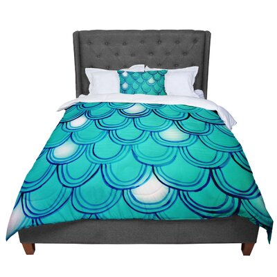 Theresa Giolzetti Mermaid Tail Comforter Size: King