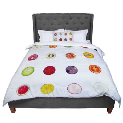 Theresa Giolzetti Fruit Food Comforter Size: Twin