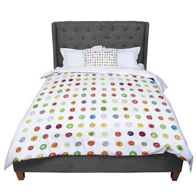 Theresa Giolzetti Fruit Pattern Food Painting Comforter Size: Twin
