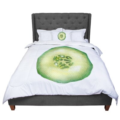 Theresa Giolzetti Cucumber Comforter Size: King