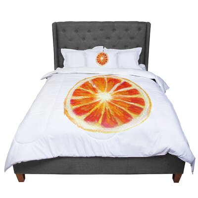 Theresa Giolzetti Grapefruit Comforter Size: Queen