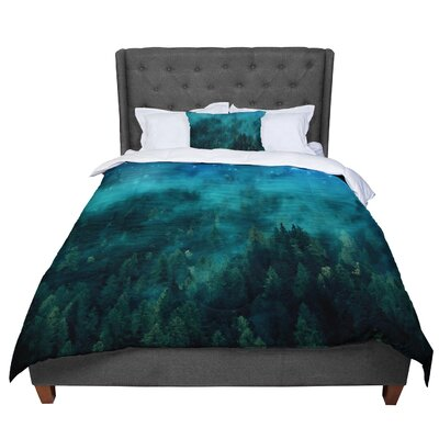 888 Design Forest Night Digital Comforter Size: Twin