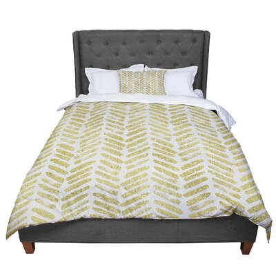 888 Design Golden Vision Comforter Size: Queen