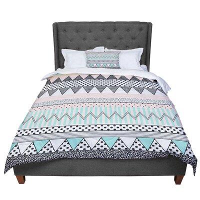 Vasare Nar Chevron Motif Comforter Size: Queen
