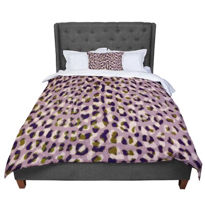 Vasare Nar Leo Cheetah Animal Pattern Comforter Size: Queen