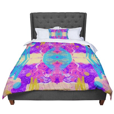 Vasare Nar Glitch Kaleidoscope Comforter Size: Twin