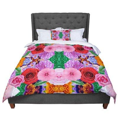Vasare Nar Kaleidoscopic Flowers Comforter Size: Twin